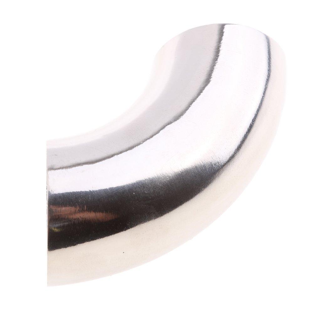 Plata 51mm Baoblaze Conector Codo para Guarnici/ón de Tubo 90 Grado de Acero Inoxidable 304 para Barco Rv