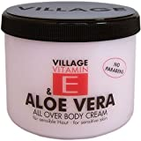 Village Cosmetics Vitamin E Body Cream, Aloe Vera 500 ml