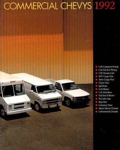 1992 Chevrolet 44-page Original Sales Brochure Catalog - Commercial Truck Silverado Suburban Van S-10