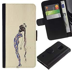 Peacock Chica Mujer vestido de la manera- la tarjeta de Crédito Slots PU Funda de cuero Monedero caso cubierta de piel Para Samsung Galaxy S5 V SM-G900
