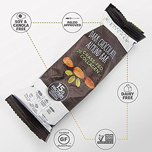 Primal Kitchen – Coconut Cashew, Dark Chocolate and Hazelnut Protein Bars, Variety 3 Pack – Made with Grass–Fed Collagen (Protein), Hazelnuts & Organic Fair–Trade Cocoa (18 Bars Total) by Primal Kitchen (Image #7)