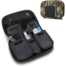 USA Gear Vape & eJuice Carrying Case - Large Premium E-Cigarette Vape Mod Travel Pen Organizer - Works blu, Innokin, Janty, Halo Cigs, 777 E-Cigs More Electronic Cigarettes (Camo Green)