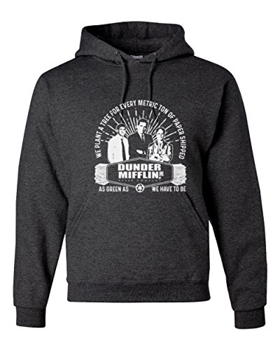 Wild Bobby Dunder Mifflin Paper | Mens Hooded Sweatshirt, Heather Black, X-Large