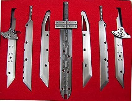 Ff7 Buster Sword Replica 7 Pieces Tsurugi Sword