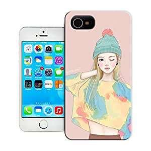 Buythecases Watercolor girl13 for durable popular iphone 6 cases(4.7 inch)