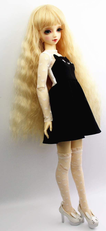 Pair of White Lace Heart Over Knee Stockings Long Socks for 1//6 BJD SD Dolls