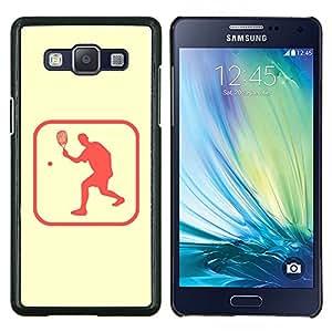 LECELL--Funda protectora / Cubierta / Piel For Samsung Galaxy A5 A5000 -- Tenis Deporte Estilo de vida saludable Símbolo rosado de sesión --