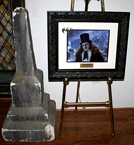 """Wow! BATMAN """"Screen Used"""" PROP Tombstone, DANNY DEVITO Signed, COA, UACC, DVD, Frame + Easel from ONE OF A KIND"""