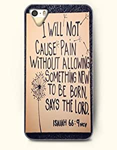 I Will Not Cause Pain Without Allowing Something New To Be Born, Says The Lord Isaiah 66:9 - Bible Verses - iPhone 5 / 5s Hard Back Plastic Beige