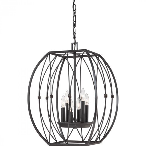 Quoizel QF1687IB Quoizel Fixture - Regina with Imperial Bronze Finish,  Cage Chandelier and 6 Lights,  - Cage Chandelier Quoizel