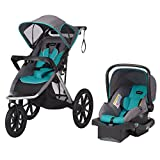 Evenflo Victory Plus Jogger Travel System, Black/Teal