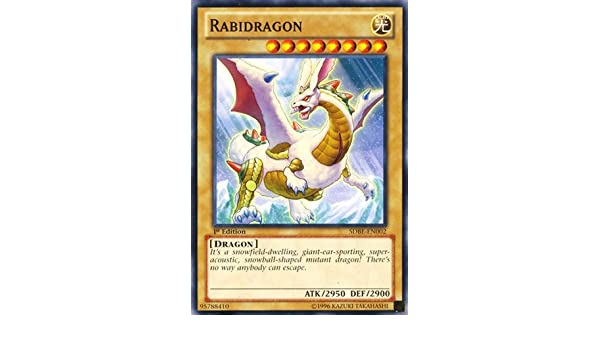 RABIDRAGON YU-GI-OH SDBE-EN002-1st EDITION