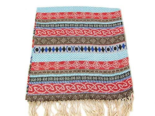 Womens Aztec Scarf Southwestern Shawl Hippie Boho Wrap Zig Zag Cotton 68