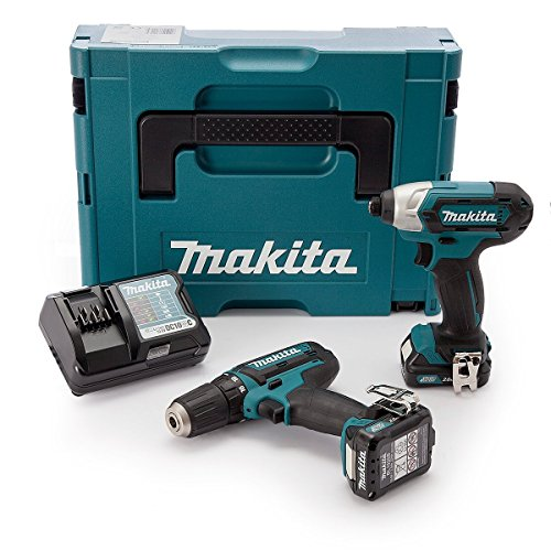 Makita CLX201AJ 10.8v CXT 2 Piece Kit with 2 x 2.0Ah Batteries, Charger in...