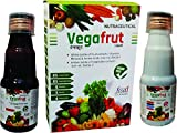 BSA Pharma Vegafrut Multivitamins Syrup-Combo Pack of Fruits extracts(100ml bottle) and Vegetable extracts(100ml bottle) Syrup