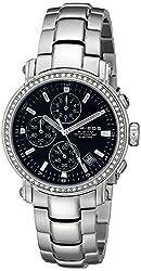 Akribos XXIV Men's AK572BK Ultimate Crystal Chronograph Stainless Steel Bracelet Watch