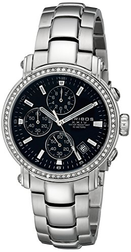 Akribos XXIV Men's AK572BK Ultimate Crystal Chronograph Stainless Steel Bracelet Watch