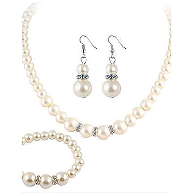 7575be7c3b6d hfj   Yie   H mujer collar perla imitée pedrería moda Bijoux de Luxe  Elegant cristal