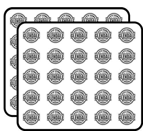 Glendale City USA Label Art Decor Sticker for Scrapbooking, Calendars, Arts, Kids DIY Crafts, Album, Bullet Journals 50 -