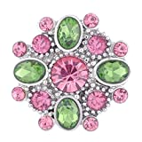 Wholesale Vocheng Blossom Snap Charm 18mm 3 Colors Crystal Button Vn-102520 Pack of 20pcs (A)