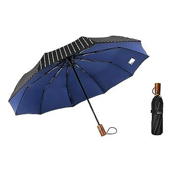b617fd60a967 Rabbituu Windproof Travel Umbrella Compact Sturdy Lightweight Folding  Portable Automatic Open Close Double Canopy Sun or Rain Totes Outdoor Car  ...