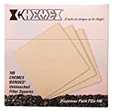 Tools & Hardware : Chemex Bonded Unbleached Pre-folded Square Coffee Filters, 100 Count
