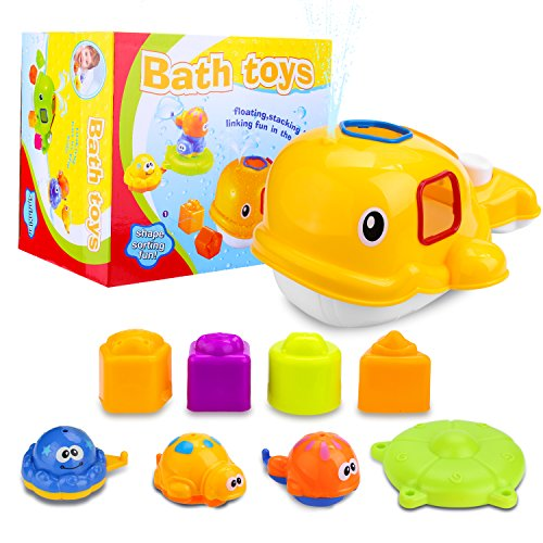 Educational Whale Bathtub Toy Set Only $3.99 (Was $13.99)