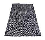 Chardin home 100% Cotton Diamond Area Rug Fully Reversible, Size – 3'x5′, Machine Washable, Black/White For Sale