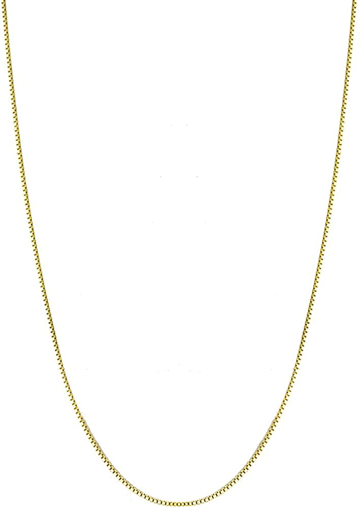 Bling For Your Buck 18K Gold Flashed Sterling Silver 1.6mm Italian Rope Chain Necklace 16-30
