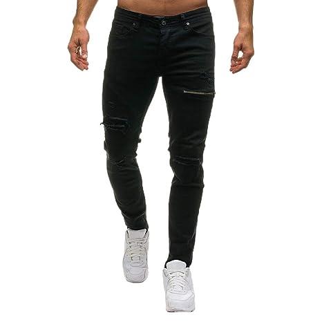 Pantalones Rotos Largos Vaqueros BBestseller Zipper Jeans ...