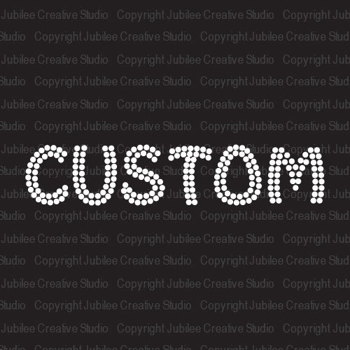 Clear Custom Word Iron On Rhinestone Crystal T-Shirt Transfer Funky Style Letters by Jubilee Rhinestones