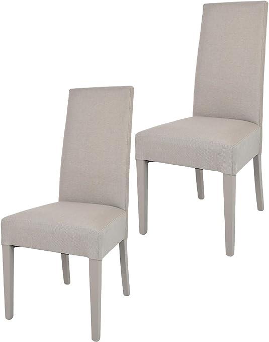 Tommychairs Set 2 sedie Moderne Chiara per Cucina e Sala da Pranzo, Struttura in Legno di faggio, Seduta e Schienale Imbottiti e Rivestiti in