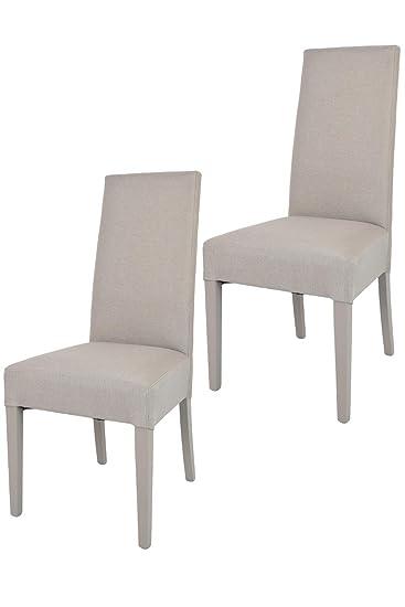 Tommychairs - Set 2 sedie Chiara Eleganti e Moderne per Cucina, ristoranti,  Bar e Sala da Pranzo, con Struttura in Legno di faggio, Seduta e Schienale  ...