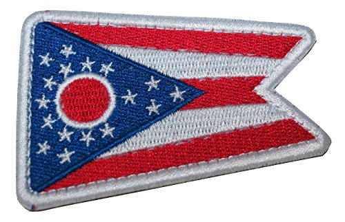TrendyLuz Ohio State Flag Embroidered Hook & Loop Patch