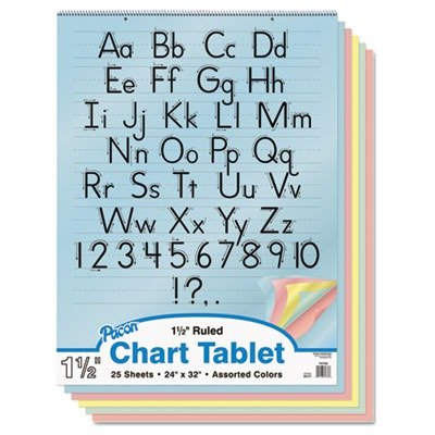 PAC74733 - Pacon Colored Chart Tablet by Pacon