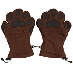 Animal World - Bear Hands Brown Youth Mittens - Large Brown