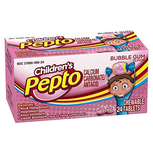 Pepto Bismol Children`s Chewable Tablets Bubble Gum 24 Ct (5 ()