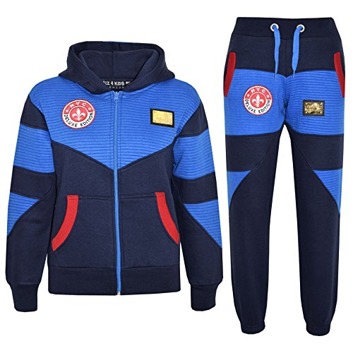 Kids Tracksuit Boys NYC Deluxe Edition Print Hoodie Bottom Jogging Suit 7-13 Yr (Kids Jogging Set)