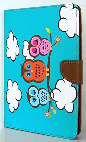Case Loca Folio Kickstand Flip Case PU Leather Cover for Apple iPad Mini / Mini Retina (Owl Tree)