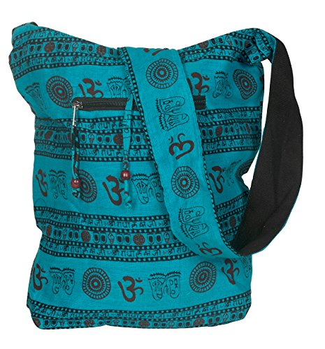 Blue Patchwork Handmade Crossbody Large Hobo Shoulder Bag Hippie Boho Fashion Everyday Unique (Quilted Handbag Shoulder Cotton Bag)