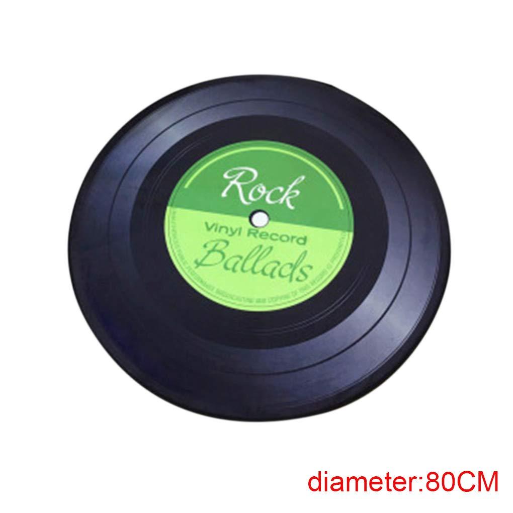 Windy5 3D Vinyl Record Round Design Tapis de Sol 60//80 100cm Multi Color Salon Chambre Cuisine Plancher Blanket Tapis