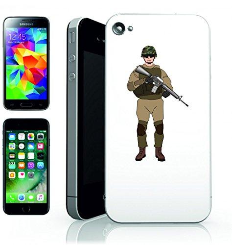 Smartphone Case Esercito della Battaglia di camuffamento della base militare della Arma della Fanteria del Soldato del Personale della Gente del Soldato di Guerra Per Apple iPhone 4/4S, 5/5S, 5C, 6