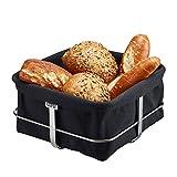 GEFU Bread Basket Square with Black Liner