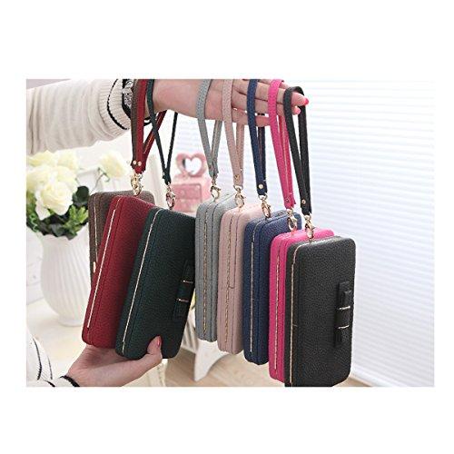 iPhone Portefeuille 6 A03 6s Femmes Multi Cuir à Portable Main Bourse Aux Sac Luxe Café Téléphone Couche pour PpOZqnw
