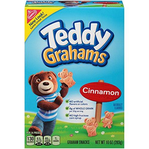 Teddy Grahams Crackers, (Cinnamon, 10-Ounce Boxes, (Fresh Graham Cracker)