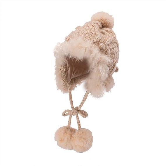 BHYDRY Mujeres Crochet Invierno Gorro Punto Caliente Cozy Grande Sombrero  Moda DiseñO De Lana Tejer Beanie Warm Caps  Amazon.es  Ropa y accesorios 73bd5ef0f90
