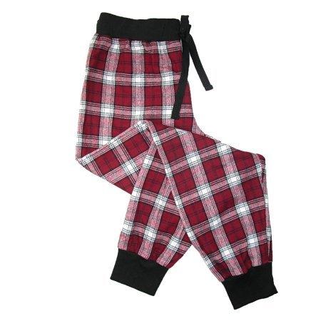 Price comparison product image Boxercraft Size Medium Womens Flannel Jogger Pajama Pants Red