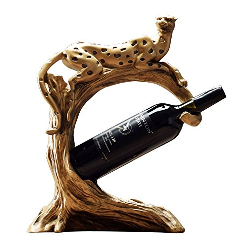 Bwlzsp 1 PCS Leopard red wine rack home wine cabinet European style American Arts and crafts display (Without bottles and cups) LU718109 by Bwlzsp