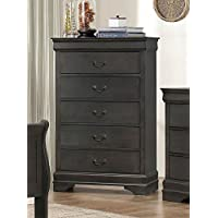 Mayville 5 Drawer Chest in Stained Grey