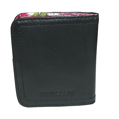 Travelon Women's Rfid Blocking Leather Bifold Card Case, ...